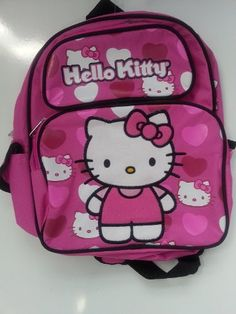 Amazon.com  Small Backpack - Hello Kitty - Stand w Pink Hearts 12