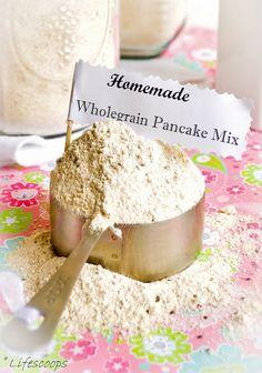 Homemade Wholegrain Pancake Mix-- Good DRY MIX, clean pancake! Finally!