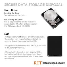 Our guidance on disposing of hard drives and SSD's in a secure way.