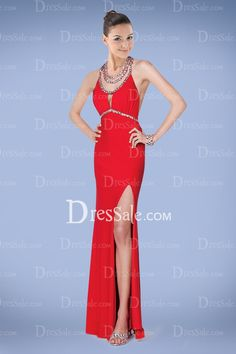 Noble Sheath Prom Gown with Extravagant Jewel Neckline in Luxury Crystals