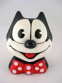 Felix The Cat Vintage Plastic 1980s 1983 Toy Cartoon Head Bank Still Piggy | eBay  watched him everyday,I think I can still remember the song