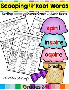 Sorting Words by Shared Greek or Latin Roots Common Core Aligned to: CCSS.ELA-LITERACY.L.3.4.CUse a known root word as a clue to the meaning of an unknown word with the same root (e.g., company, companion). CCSS.ELA-LITERACY.L.4.4.BUse common, grade-appropriate Greek and Latin affixes and roots a...