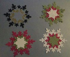 Festive flurry tags. Stampin Up