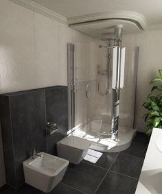 Bathtub, 3d, Bathroom, Contemporary Architecture, Interiors, Standing Bath, Washroom, Bathtubs, Bath Tube
