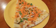 Leave it to Oregon to put carrots on a pizza.-) Thai pizza from Kaleidoscope Pizza in Medford. I might pass through there one day in the next few years. Thai Pizza, Thai Chicken Pizza, Pizza Crazy, Spicy Peanut Sauce, Tomato And Cheese, Bean Sprouts, Shredded Carrot, Thin Crust, 50 States