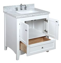 Image Gallery For Website Accanto Contemporary inch White Finish Bathroom Vanity Marble Countertop Bathroom Vanities Pinterest Bathroom vanities Countertop and Vanities