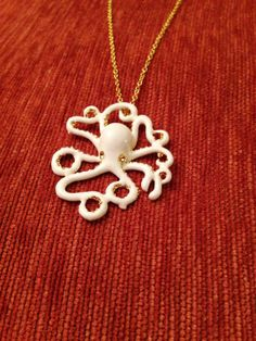 White Octopus Necklace