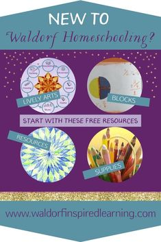 New to Waldorf Or needing a refresher? Check out all the FREE resources at Waldorf-Inspired Learning from the Block Rotation for Grades to a list of Over 50 Resources. Check out the article on The Lively Arts and 10 Steps + Supplies. Waldorf Preschool, Waldorf Math, Waldorf Curriculum, Waldorf Kindergarten, Waldorf Education, Homeschool Curriculum, Steiner Waldorf, Waldorf Crafts, Homeschooling Resources