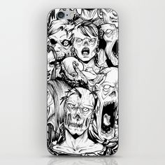 Not looking for a case, but want to customize your phone with rad designs? All you need is an iPhone Skin - a vinyl decal which sticks perfectly to your model. Pick up a few and change them out - they're super easy to stick on and take off.      - Made with patented material to eliminate air bubbles and wrinkles   - Easy application, easy removal #zombie #draw