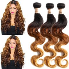 "US Local Brand WIGISS 3Bundles 24""26""28"" Body Wave 100% Real Human Hair Wefts #WIGISS #HairExtension"