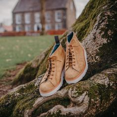 Update your casual shoe collection with the Tricker's Ethan monkey boot. Available in peanut kudu reverse suede with a Vibram Morflex wedge sole. Trickers Shoes, Shoe Horn, Shoe Tree, Trending Today, Belfast, Military History, Types Of Shoes, Shoe Collection, New Shoes