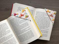 5 minútový projekt pre začiatočníkov, ideálny na spotrebovanie zvyškov látok. Corner Bookmarks, Free