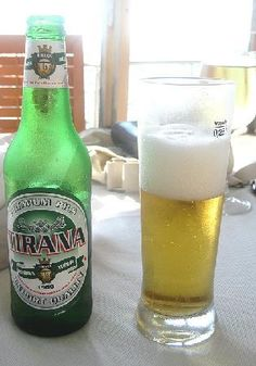 Birra Tirana (English: Tirana Beer) is an Albanian beer brand fabricated by Birra Malto Brewery. The beer contains 4% alcohol. (V)