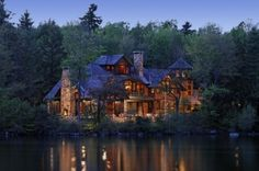 Connecticut lake house  by Carl Vernlund