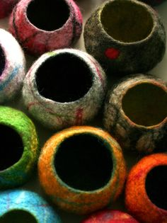 Eli Moody felted bowls. Gloucestershire Resource Centre http://www.grcltd.org/scrapstore/