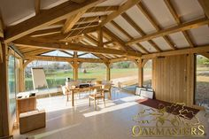 Trusses and roofs with restricted height - Oakmasters - Open vaulted ceiling created height in low pitch office roof Orangery Extension, Roof Extension, Oak Framed Extensions, Low Pitch, Wood Truss, Open Ceiling, Roof Trusses, Roof Styles, Flat Roof