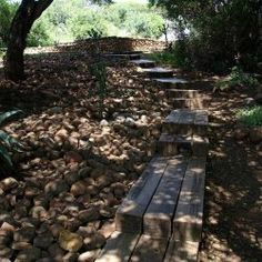 Sleeper log steps to parking area|Esikhotheni Private Game Reserve