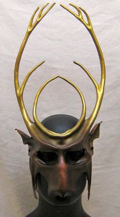 Leather stag mask