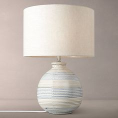 Buy John Lewis Enya Striped Ceramic Lamp Base Online at johnlewis.com