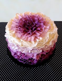 purple ombre mum cake. my step daughter loves purple. gonna have a bakery make this for her birthday