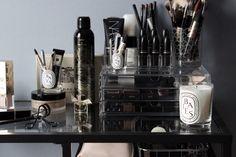organização maquiagem - makeup storage