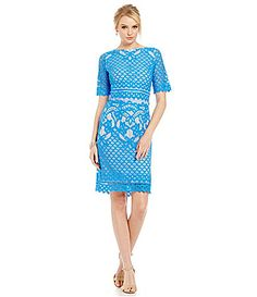 Adrianna Papell Polka Dot Tea Length Dress #Dillards | Sister\'s ...
