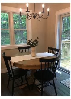 Farmhouse Dining Room Table, Trestle Dining Tables, Small Dining Room Tables, Round Pedestal Dining Table, Round Tables, Round Table With Leaf, Black Round Dining Table, Round Wood Table, Simple Dining Table
