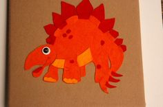 Felt dino for the wall #pinparty
