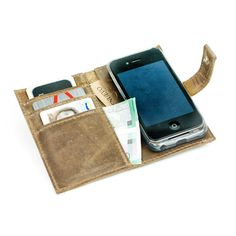 leather case for iphone4 4s,Distressed Leather Phone Wallet