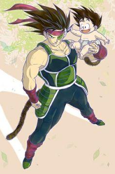 Bardock and chibi Goku dbz