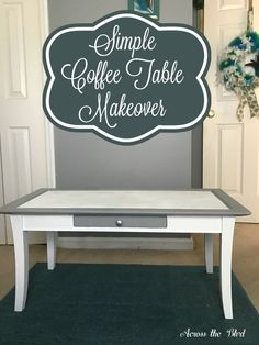 Simple Coffee Table Makeover
