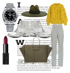 """""""fashion journalist"""" by mariolina-la-torre ❤ liked on Polyvore featuring Maison Margiela, ALDO, Balenciaga, Diesel, NARS Cosmetics and Rolex"""