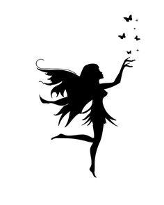 Custom Order 6 Tall x 3 Wide Wall Decal Vinyl by DecalMyHappyShop Ankle Henna Tattoo, Foot Henna, Fairy Silhouette, Silhouette Design, Disney Fantasy, Fairy Stencil, Frog Tattoos, Black Fairy, Fairy Drawings