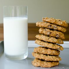 Gluten free oatmeal chocolate chip cookies. Add 1/2 c. of M's and make them monster cookies!