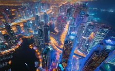 Bright Lights of Dubai Skyline | pinned by www.wfpcc.com