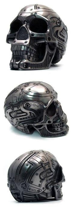 Cyborg metallic skull. Was sold a few years ago on a Korean website.