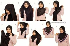 Looking for some new hijab styles? Here you will find all different styles so you can change your style as often as you like. Hijab is all about modesty but Pashmina Hijab Tutorial, Hijab Style Tutorial, Hijab Bride, Pakistani Wedding Dresses, Wedding Hijab, Kebaya Muslim, Muslim Hijab, Islamic Fashion, Muslim Fashion