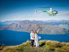 Wanaka Helicopters doing an amazing job! 💗💗 What a perfect bluebird day for this gorgeous couple. Elope Wedding, Post Wedding, Wedding Story, Hotel Wedding, Farm Wedding, Creative Wedding Ideas, Elopements, Photo Location, Wedding Photoshoot