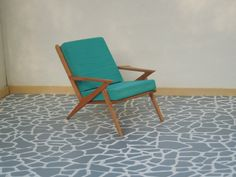 Mid Century Miniature Lounge Chair in cherry 1:12 scale