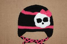 Monster High inspired Crochet Hat / Crochet Girls by 19elephants, $20.00