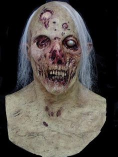 corpsified super detailed zombie mask full over the head mask individually hand painted for the most realistic look possible - Rob Zombie Halloween Mask For Sale