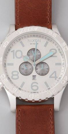 This is amazing! Love the leather strap with the grey light blue tones Xmas Wishes, Teal Accents, Blue Band, Blue Tones, Designing Women, Jewelry Accessories, Jewels, Purses, Watches