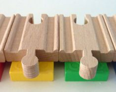 Set of 3.  Use these adapters to combine Duplo and your wooden train tracks to…