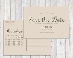 Rustic save the date printable Save the date by AcetiDesignCo