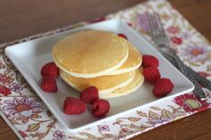 Light and Fluffy Gluten Free Pancakes recipe by Barefeet In The Kitchen