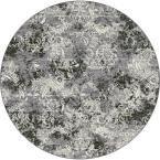 Ancient Garden Silver/Grey 5 ft. 3 in. Round Area Rug
