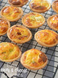 Mini Ham and Cheese Quiches - Create Bake Make