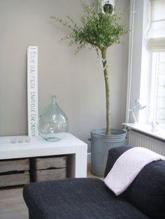 Leuk idee voor een TV meubel. Ook leuke bloempot. Door Nicole1