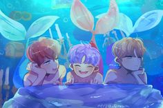 NCT Dream Mermaid Haechan Chenle Renjun