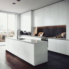 white kitchen @allofrenders